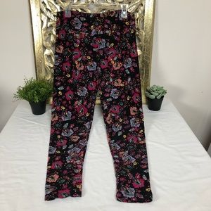 LuLaRoe floral print tall and curvy leggings